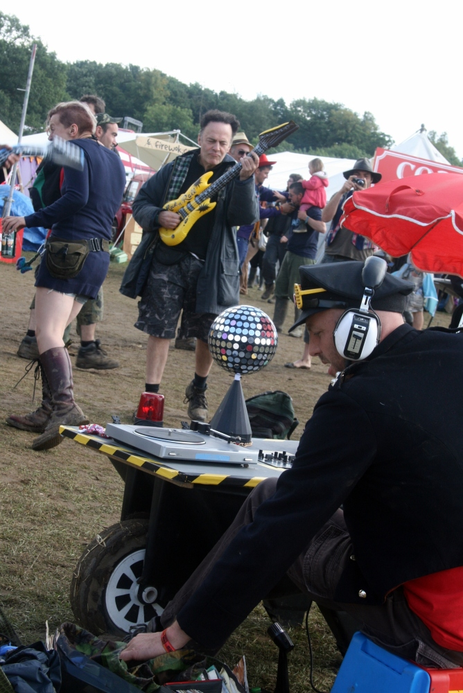 Shambala Story the shabby chic improvised wheelbarrow disco